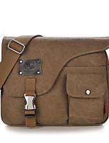 Unisex Bags Canvas Shoulder Bag Zipper for Casual Outdoor All Seasons Blue Black Coffee Army Green Khaki