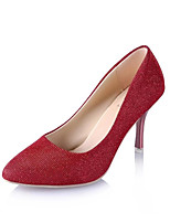 Women's Shoes Suede Summer Comfort Heels Stiletto Heel Pointed Toe For Dress Gold Black Gray Red