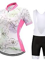 Велокофты и велокомбинезоны Жен. С короткими рукавами Велоспорт Наборы одежды Анатомический дизайн Геометрический принт Осень Весна