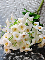 1 Une succursale Plastique Autres Campanule Fleur de Table Fleurs artificielles