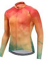 Cycling Jersey Unisex Long Sleeves Bike Jersey Quick Dry Solid Winter Mountain Cycling Cycling Motorsports Mountain Bike/MTB Orange