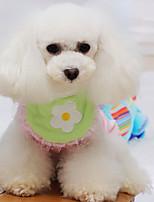 Собака Шарф для собаки Одежда для собак обожаемый Цветочные/ботанический Зеленый Костюм Для домашних животных