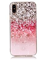 Недорогие -Кейс для Назначение Apple iPhone X / iPhone 8 / iPhone 8 Plus IMD / С узором Кейс на заднюю панель Сияние и блеск Мягкий ТПУ для iPhone X / iPhone 8 Pluss / iPhone 8