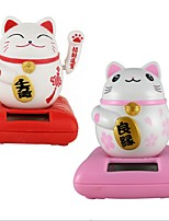 Solar Maneki Neko Welcoming Fortune Cat Lucky for Home Car Hotel Restaurant Decor Craft