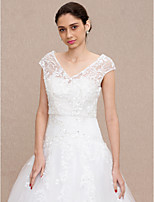 Lace Wedding Party / Evening Women's Wrap With Buttons Lace Vests
