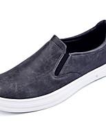 Homme Chaussures Polyuréthane Printemps Automne Confort Mocassins et Chaussons+D6148 Lacet Pour Décontracté Noir Gris Marron