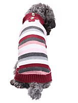 Dog Sweater Dog Clothes Casual/Daily Stripe Rainbow Costume For Pets