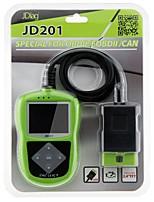 JDiag JDiag JD201 Code Reader With Color Screen for OBDII/EOBD/CAN InstrumententafelforUniversal Nissan Proton SRT Dodge Martin