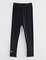 Girls' Solid Pants-Cotton Fall