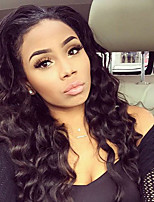 Women Human Hair Lace Wig Brazilian Human Hair 360 Frontal 180% Density With Baby Hair Loose Wave Wig Black Long Natural Hairline