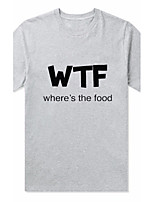Tee-shirt Femme,Couleur Pleine Sortie Décontracté / Quotidien Mignon Printemps Eté Manches Courtes Col Arrondi Polyester Moyen