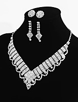 Women's Chain Necklaces Taper Shape Rhinestone Alloy Basic Sweet Jewelry For Wedding Party Engagement