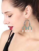 Women's Drop Earrings Hoop Earrings Imitation Pearl Sexy Oversized Imitation Pearl Alloy Geometric Jewelry For Party Christmas