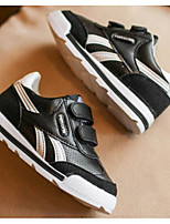 Boys' Shoes PU Fall Winter Comfort Sneakers For Casual Black White