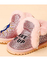 Girls' Shoes Leatherette Fall Winter Comfort Snow Boots Boots For Casual Blushing Pink Beige Black White