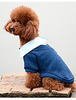 Dog T-shirts Dog Clothes Warm Casual/Daily Cartoon Dark Blue Gray Yellow Red Costume For Pets