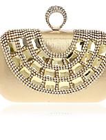 Damen Taschen Ganzjährig Polyester Unterarmtasche Knöpfe für Normal Gold Silber