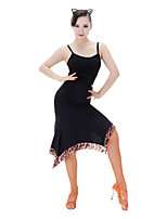 Latin Dance Tops Women's Performance Brocade Sleeveless Tops