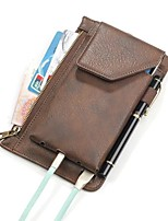 For Case Cover Card Holder Pouch Bag Case Solid Color Soft PU Leather for Universal Other