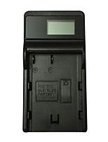 ismartdigi el3e lcd usb cargador de batería para cámara móvil para nikon el-el3e a d90 d80 d300s d300 d700 d200 - negro