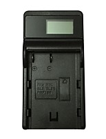 Ismartdigi EL3E LCD USB Mobile Camera Battery Charger for Nikon EL-EL3E A D90 D80 D300S D300 D700 D200 - Black