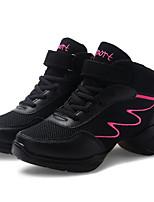 Women's Dance Sneakers Tulle PU Heel Practice White Black/Red