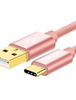 CE-Link USB 2.0 Câble, USB 2.0 to USB 2.0 Type C Câble Male - Male 0.25m (0.8ft)