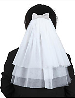 Three-tier Wedding Veil Shoulder Veils With Ruffles Tulle Wedding Accessories