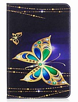 Butterfly Pattern Card Holder Wallet with Stand Flip Magnetic PU Leather Case for Samsung Galaxy Tab A 8.0 T350 T355 8.0 inch Tablet PC