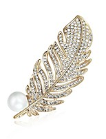 Men's Women's Brooches Bling Bling Chrismas Zircon Alloy Jewelry For Party Christmas