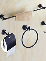 Bathroom Accessory Set 60 Towel Bar Towel Ring Toilet Paper Holder Bathroom Shelf Toilet Brush Holder Wall Mounted