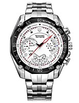 cheap -Men's Fashion Double deck dial Watch Wrist watch Quartz Alloy Band Silver