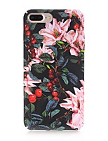 baratos -Capinha Para Apple iPhone X iPhone 8 Áspero Estampada Capa traseira Flor Rígida PC para iPhone X iPhone 8 Plus iPhone 8 iPhone 7 Plus