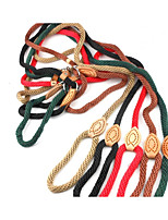 Dog Leash Portable Solid Nylon Gold Black Coffee Red Green