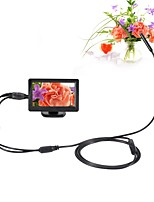 5.5mm Dia AV Endoscope 5V NTSC 1m Cable Night Vision Inspection Borescope Camera Snake Video Cam with 4.3 inch TFT Color Monitor