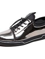 Hombre Zapatos PU Primavera Otoño Confort Zapatillas de deporte Para Casual Dorado Negro Plateado Azul Real