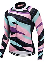Cycling Jersey Unisex Long Sleeves Bike Jersey Reflective Strip Graphic Autumn/Fall Recreational Cycling Cycling Motorsports Mountain