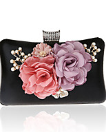 Women Bags All Seasons PVC Evening Bag Flower(s) for Event/Party Formal Black Silver Red Purple Fuchsia