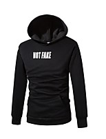 Men's Daily Sports Casual Active Hoodie Solid Print Hooded Hoodies Micro-elastic Cotton Rayon Long Sleeve Winter Fall