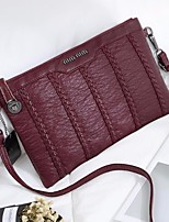 Women Bags Sheepskin Shoulder Bag Zipper for Casual All Seasons Black Red Gray