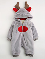 Baby Geometic One-Pieces,Cotton Winter Long Sleeve Gray