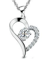 Women's Pendant Necklaces Crystal Rhinestone Heart Rhinestone Alloy Fashion Elegant Jewelry For Wedding Daily