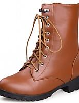 Da donna Scarpe Finta pelle PU (Poliuretano) Autunno Inverno Comoda Innovativo Stivaletti alla caviglia Stivaletti Quadrato Punta tonda