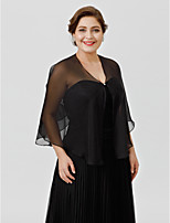 cheap -Sleeveless Chiffon Wedding Party / Evening Women's Wrap With Buttons Capelets