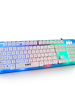 bureau maison jeu clavier câble muet étanche externe belle couleur tous usb