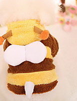 Dog Coat Dog Clothes Cosplay Keep Warm Stripe Yellow