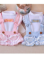 Dog Dress Dog Clothes Casual/Daily Princess Blue Pink