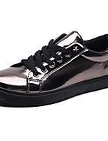 Homme Chaussures Polyuréthane Printemps Automne Semelles Légères Basket Lacet Pour Décontracté Or Noir