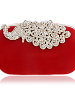 Women Bags Polyester Evening Bag Crystal Detailing for Wedding Event/Party All Seasons Blue Black Red Purple Fuchsia