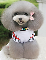 Dog Jumpsuit Dog Clothes Cotton Down Winter Spring/Fall Casual/Daily Flag Red For Pets